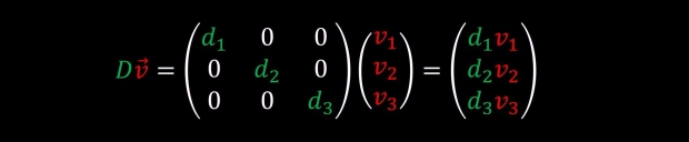 simple diagonal matrix multiplication